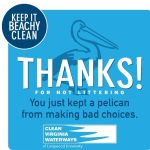 Clean Virginia Waterways Thank You Beachy Clean Poster