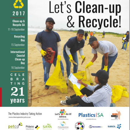 South Africa Cleanup and Recycle Day Poster