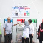 Malaysian Plastics Manufacturers Association leaders demonstrate recycling at the 2017 Eco-Rangers Programme
